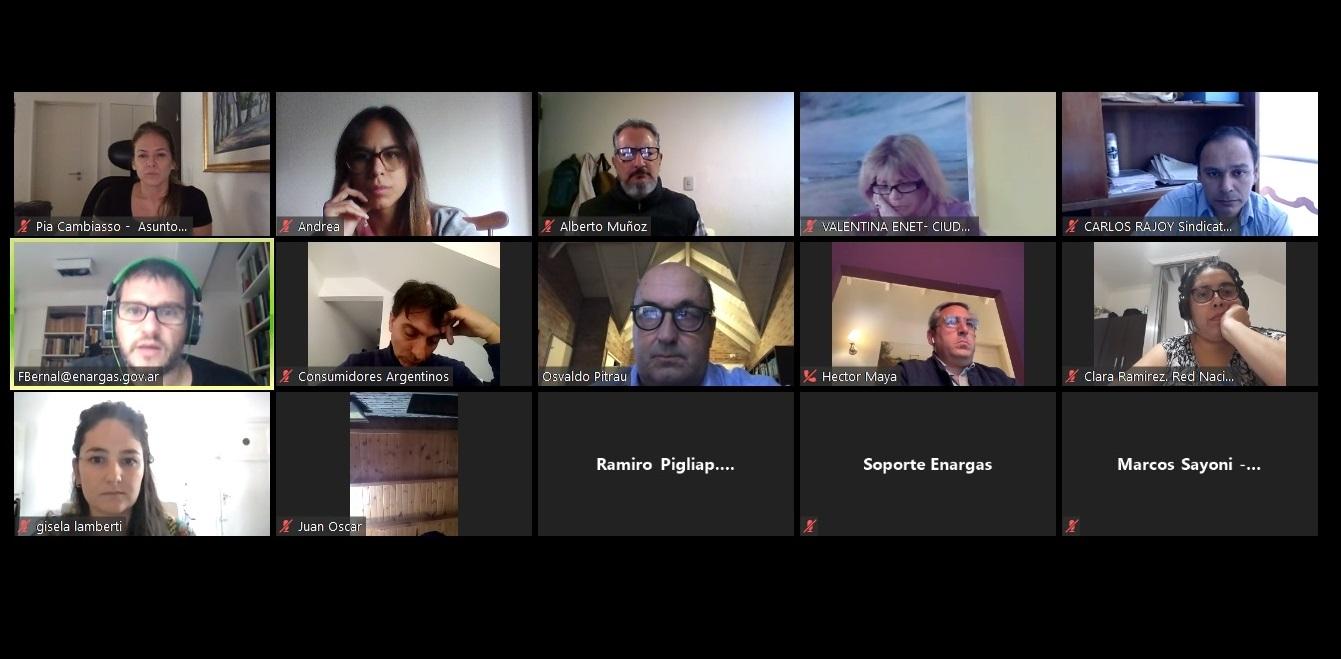 Reunión del ENARGAS con la Red Nacional de Multisectoriales: un ente para los usuarios y las usuarias