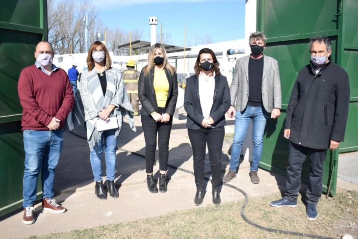 Se inauguró una planta reguladora de gas en Firmat por la gestión del ENARGAS y de la Senadora Nacional Sacnun