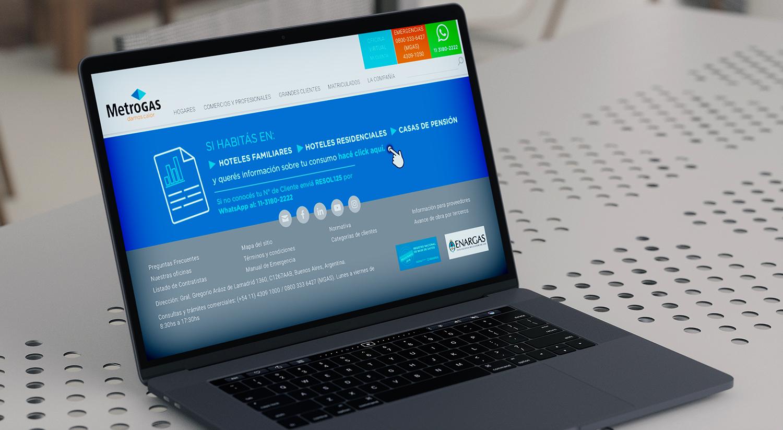 Usuarios inquilinos de hoteles y pensiones ya pueden solicitar información de consumo a Metrogas